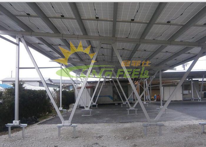Solar Carport Mounting System Superior Rust Resistance With 12 Years Warranty
